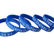 Silicone Bracelets, Customized Colors Accepted, Available with Silkscreen Printing from Iris Fashion Accessories Co.Ltd