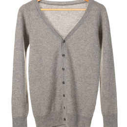 Cashmere knitted V-neck cardigan from China (mainland)
