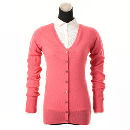 Cashmere knitted V-neck sweater from China (mainland)