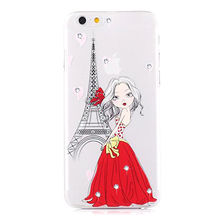 Glittering diamonds crystal mobile phone TPU case for iPhone 6s from Dongguan Afang Plastic Products CO.,LTD