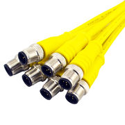 Yellow PVC pure injection molded m12 car cable from China (mainland)