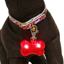 LED flashing dog bone shape pets pendant from China (mainland)