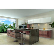 wood venner kitchen cabinet. modern design from China (mainland)
