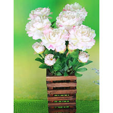 Artificial peony white flower from China (mainland)