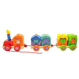 2016 brand new kids educational wood train toy W05C035
