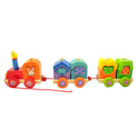 China Kids educational wood train toy