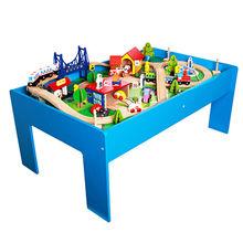 China Children's wooden train track toy