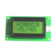 STN Yellow Green 08*02 Character LCD Module