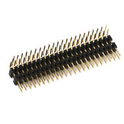China 2.0mm Pitch Pin Header with 2.0A Current Rating, H = 2.0, Right Angle Type, Dual Layer, Dual row
