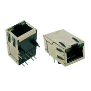RJ45 Single Port/Multiple Port Stack or Combo Type Vertical DIP Right Angle with LED Colors from Morethanall Co. Ltd