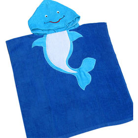 China Baby terry hooded towel, made of 100% cotton, animal shape