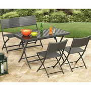 rattan wicker folding chair and table set from China (mainland)