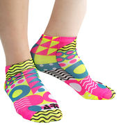 Small Fluorescent Tube Ankle Logo Socks Full Surfa from Taiwan