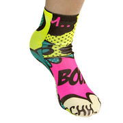 Large Fluorescent Tube Calf Low Logo Socks Full Su from Taiwan