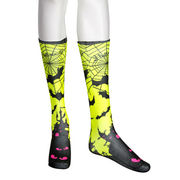 Small Fluorescent Tube Calf High Logo Socks Full S from Taiwan