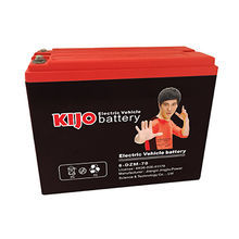 Bestselling 12V 35Ah Electric Vehicle Battery with Red Cover and Black Case