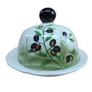 Wholesale Hand-painted Butter Dish from China (mainland)