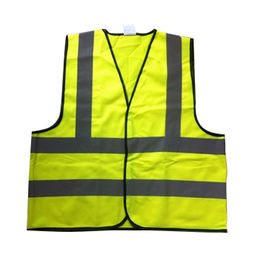 100% Polyester Fabric Fluorescent Reflective Vest from China (mainland)