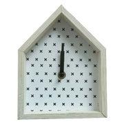 Novelty wooden house art wall clock from China (mainland)