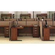 China Modular Ergonomic Office Desk With 3 Drawer Cabinet, Workstation ...