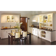 white oak solid wood kitchen cabinet. plywood from China (mainland)