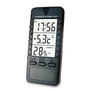 Hong Kong SAR Thermo Hygrometer with Alarm Clock, 3-in-1, Easy-to-read Jumbo Display, Memory Recall Function