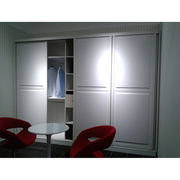 vinyl wrap sliding door wardrobe. modern style from China (mainland)