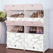 Printed design DIY PP living room shoe rack from China (mainland)