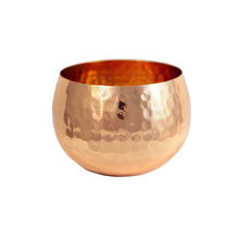 India Copper Candle T-Light Holder Bowl Hammered