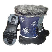 Waterproof snow boots, BLC-complaint full grain leather uppers