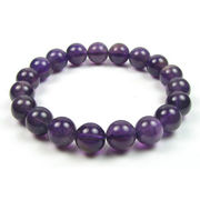 Amethyst round natural stone bracelet from China (mainland)