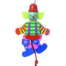 Wooden toy clown from China (mainland)