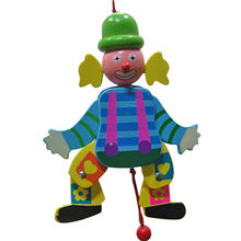 Baby wooden toy clown from China (mainland)