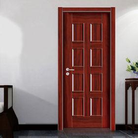 Modern wooden single door