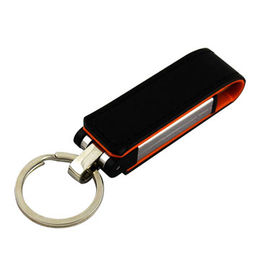 Hong Kong SAR Promotional Leather USB Flash Drive with Customized Logo