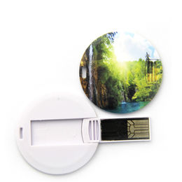 Promotional Round Shape Card USB Flash Drive with Full Color Printing from Memorising Tech Limited