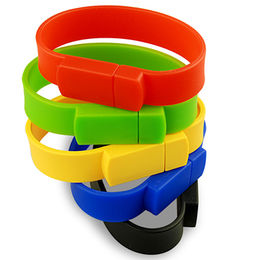 Hong Kong SAR Popular Promotional Silicone Bracelet USB Flash Drive with Customized Logo