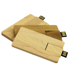 Eco-friendly Wooden Credit Card Style USB Flash Drive with Customized Logo from Memorising Tech Limited