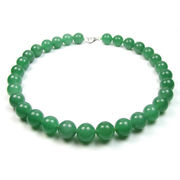 12mm aventurine gem beaded round necklace from China (mainland)