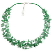Multi-strand aventurine gem tin cup necklace from China (mainland)