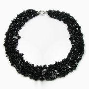 Black onyx gem stone multi-strand necklace from China (mainland)