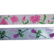 1 Inch Flowers Printed Grosgrain Ribbon from China (mainland)