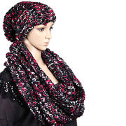 Acrylic scarf with hat from Hangzhou Willing Textile Co. Ltd