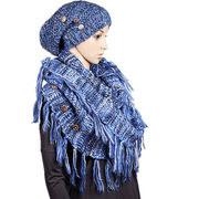 Winter fishion scarves with same style hats from Hangzhou Willing Textile Co. Ltd