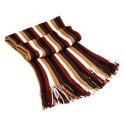 Rainbow winter Scarf from Hangzhou Willing Textile Co. Ltd