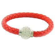 Braided leather bracelet from China (mainland)