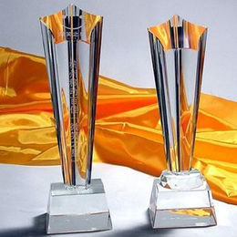 Glass trophy from China (mainland)