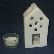China Ceramic house candle holder