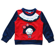 Girl's Round Neck Long Sleeve T- shirt from China (mainland)