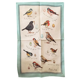 China Birds printed cotton kitchen towel, machine washable
